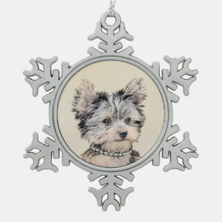 Ornement Flocon De Neige Chiot de Yorkshire Terrier