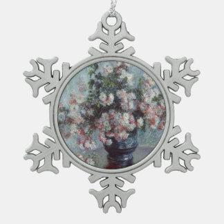 Ornement Flocon De Neige Chrysanthèmes