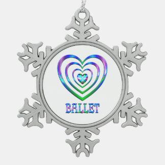 Ornement Flocon De Neige Coeurs de ballet