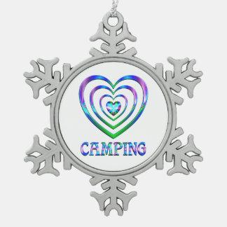 Ornement Flocon De Neige Coeurs de camping