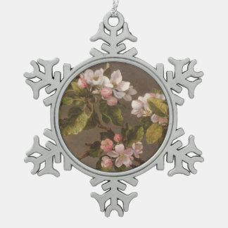 Ornement Flocon De Neige Colibri et fleurs d'Apple