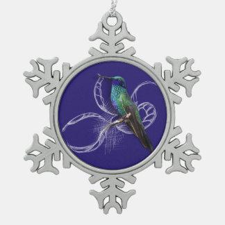 Ornement Flocon De Neige Colibri renversant - personnalisez en ajoutant le