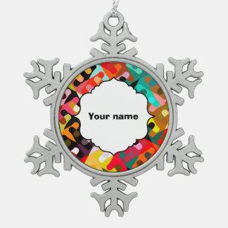 Ornement Flocon De Neige Conception colorée d'abrégé sur formes
