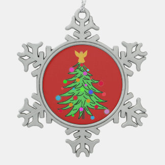 Ornement Flocon De Neige Coutume collectable d'étain d'ornement d'arbre de