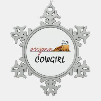Ornement Flocon De Neige Cow-girl de l'Arizona de PIÈCE EN T