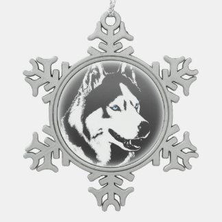 Ornement Flocon De Neige Décoration enrouée de vacances de chien de