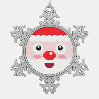 Ornement Flocon De Neige Décoration mignonne d'arbre de Noël de flocon de