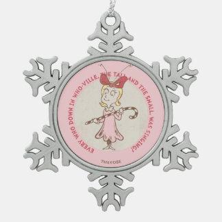 Ornement Flocon De Neige Dr. Seuss | le Grinch | Cindy Lou qui - citation
