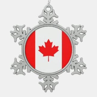 Ornement Flocon De Neige Drapeau national patriotique du CANADA