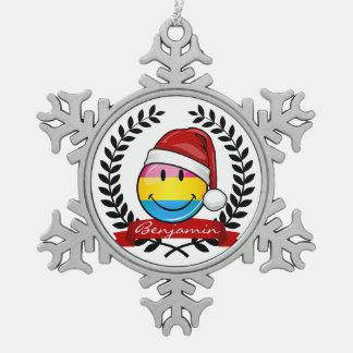 Ornement Flocon De Neige Drapeau Pansexual de fierté de style de Noël