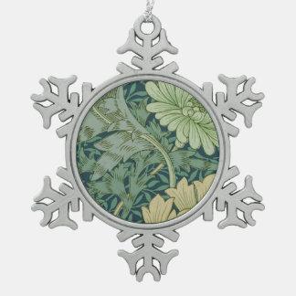 Ornement Flocon De Neige Échantillon de motif de papier peint avec le