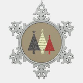 Ornement Flocon De Neige Élégant géométrique artistique élégant d'arbre de