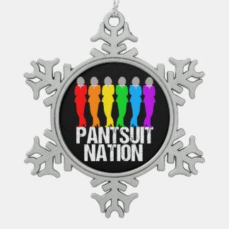 Ornement Flocon De Neige Femmes d'arc-en-ciel de nation de Pantsuit