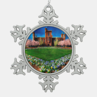 Ornement Flocon De Neige Fleurs de cerisier de jardin de château de