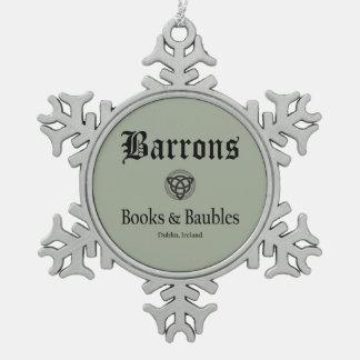 Ornement Flocon De Neige Flocon de neige de gris de livres et de babioles