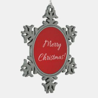 Ornement Flocon De Neige Flocon de neige de Joyeux Noël