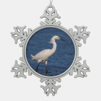 Ornement Flocon De Neige Héron de Milou sur la plage du nord