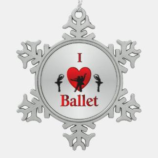 Ornement Flocon De Neige I argent de ballet de coeur