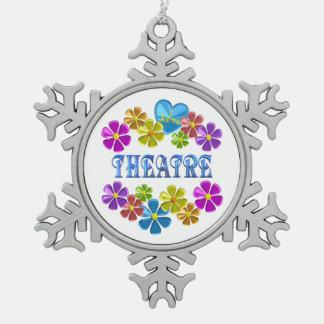 Ornement Flocon De Neige J'aime le théâtre