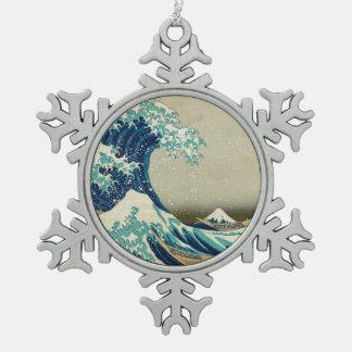 Ornement Flocon De Neige La grande vague outre de Kanagawa