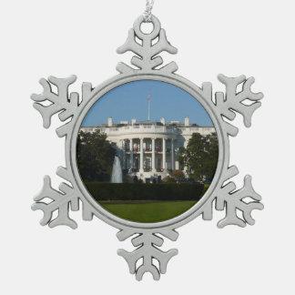 Ornement Flocon De Neige La Maison Blanche de Noël pour le Washington DC de
