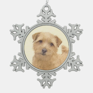 Ornement Flocon De Neige La Norfolk Terrier