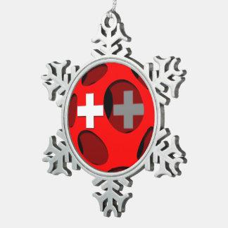 Ornement Flocon De Neige La Suisse #1