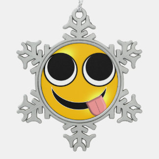 Ornement Flocon De Neige Langue Emoji