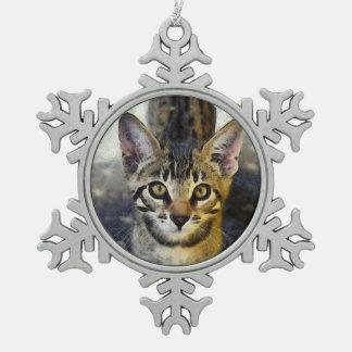 Ornement Flocon De Neige Le Bengale mignon Kitty