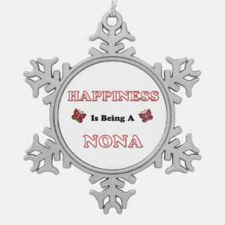 Ornement Flocon De Neige Le bonheur est des Forces navales de la Norvège