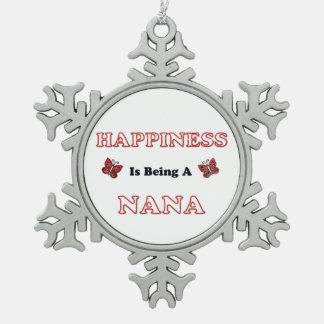 Ornement Flocon De Neige Le bonheur est Nana