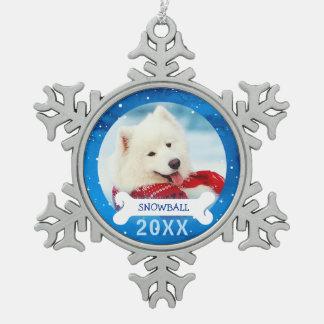Ornement Flocon De Neige Le chien personnalisé ornemente Noël de photo de |