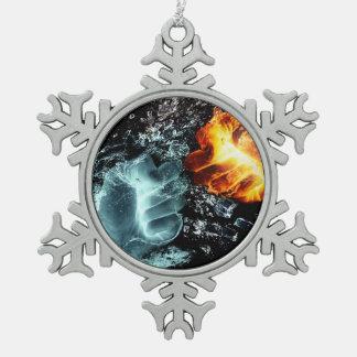 Ornement Flocon De Neige Le feu et l'eau