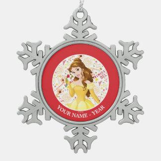 Ornement Flocon De Neige Le rose de participation de belle de princesse