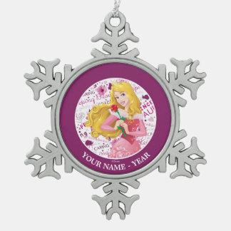 Ornement Flocon De Neige Le rose de participation de l'aurore de princesse