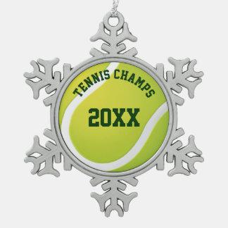 Ornement Flocon De Neige Le tennis mâche cadeaux de sport de 20XX | les