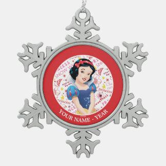 Ornement Flocon De Neige Les bras de croisement de princesse Snow White  