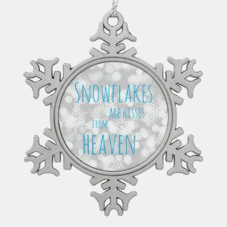 Ornement Flocon De Neige Les flocons de neige sont des baisers de ciel
