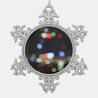 Ornement Flocon De Neige Les lumières de Noël