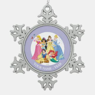 Ornement Flocon De Neige Les oiseaux et les animaux des princesses  