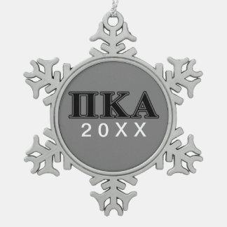 Ornement Flocon De Neige Lettres noires de Kappa de pi alpha