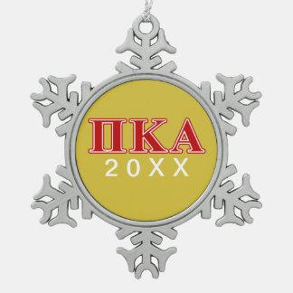Ornement Flocon De Neige Lettres rouges de Kappa de pi alpha