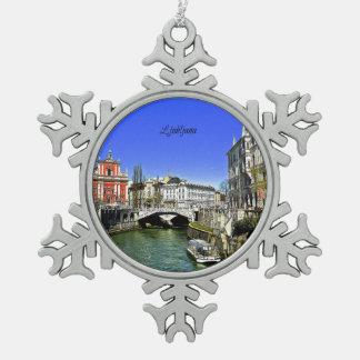 Ornement Flocon De Neige Ljubljana Slovénie