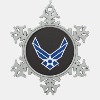Ornement Flocon De Neige Logo d'armée de l'air des États-Unis - Bleu
