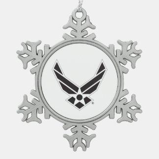 Ornement Flocon De Neige Logo d'armée de l'air des États-Unis - Noir