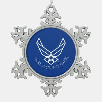 Ornement Flocon De Neige Logo de l'Armée de l'Air - bleu