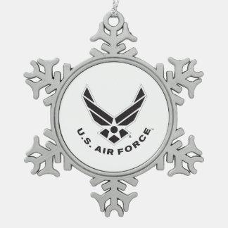 Ornement Flocon De Neige Logo de l'Armée de l'Air - noir