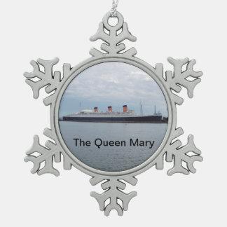 Ornement Flocon De Neige L'ornement de bateau de croisière de Queen Mary