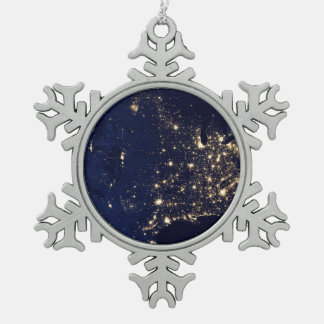 Ornement Flocon De Neige Lumières de la NASA de l'espace Etats-Unis