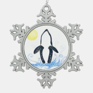 Ornement Flocon De Neige lune d'orque